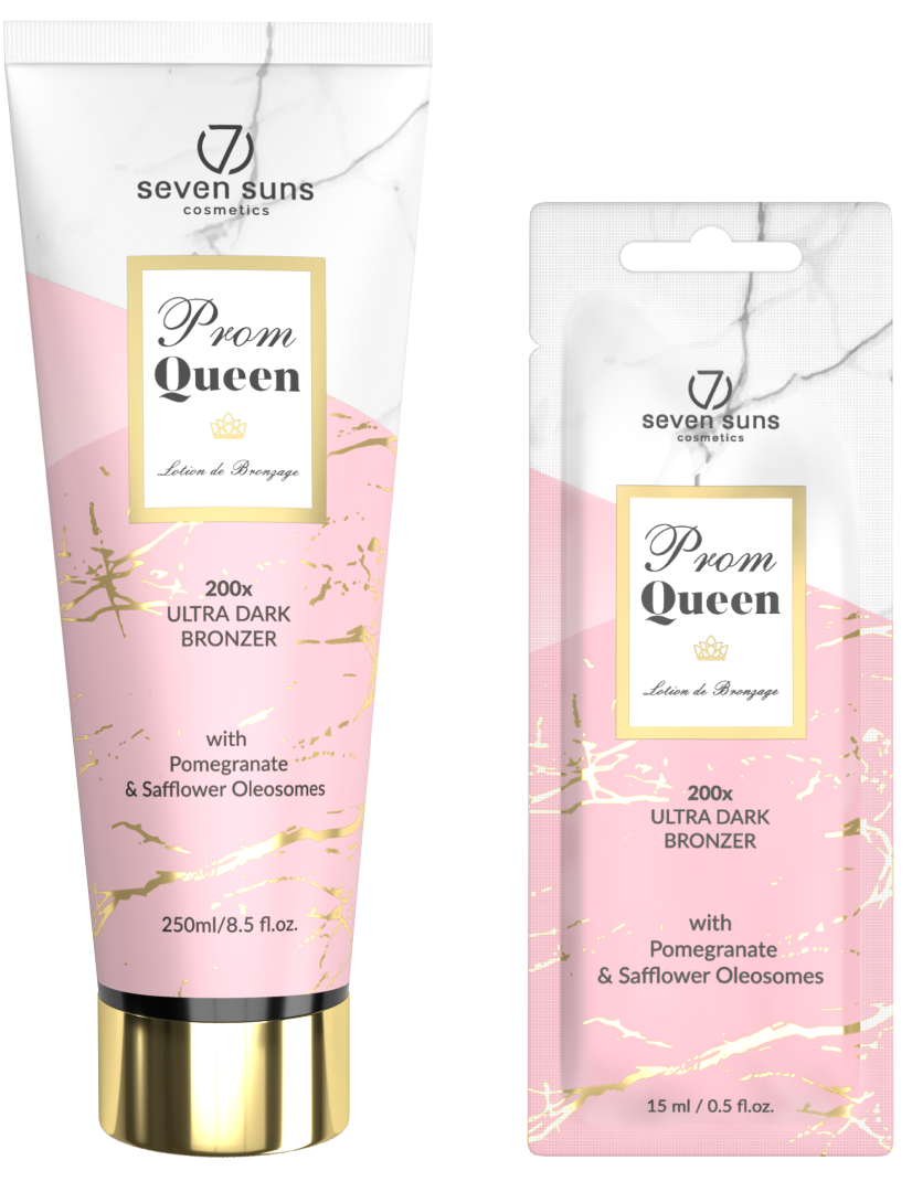 Prom Queen bronzer tube and sachet