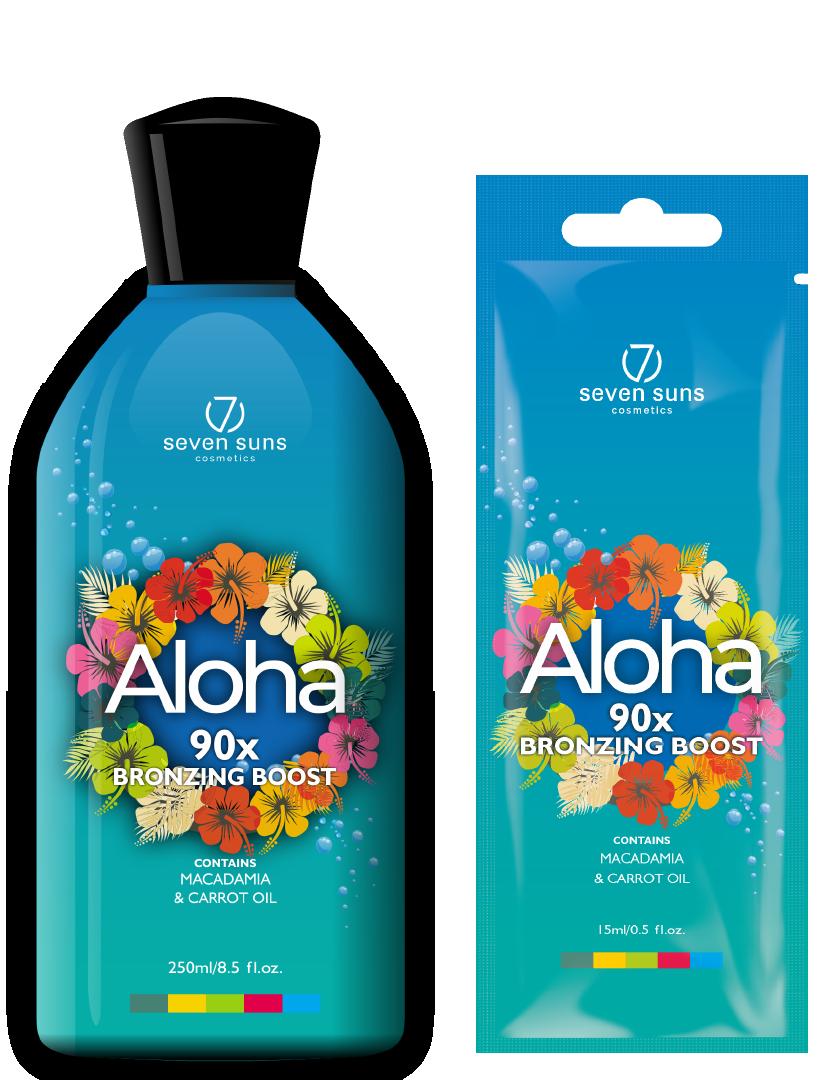 Aloha bottle and sachet bronzer
