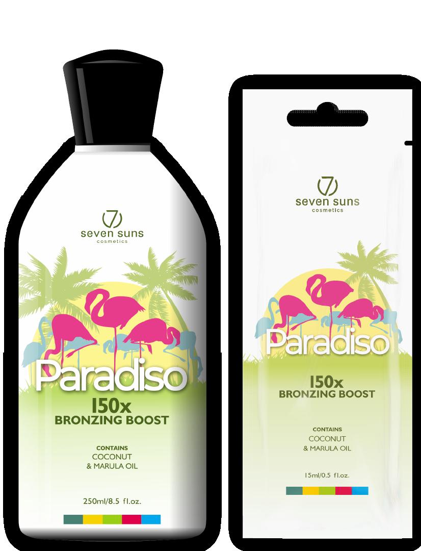 Paradiso bottle and sachet