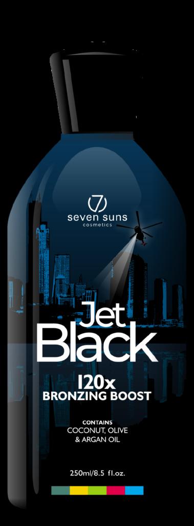 Jet Black cosmetic bottle