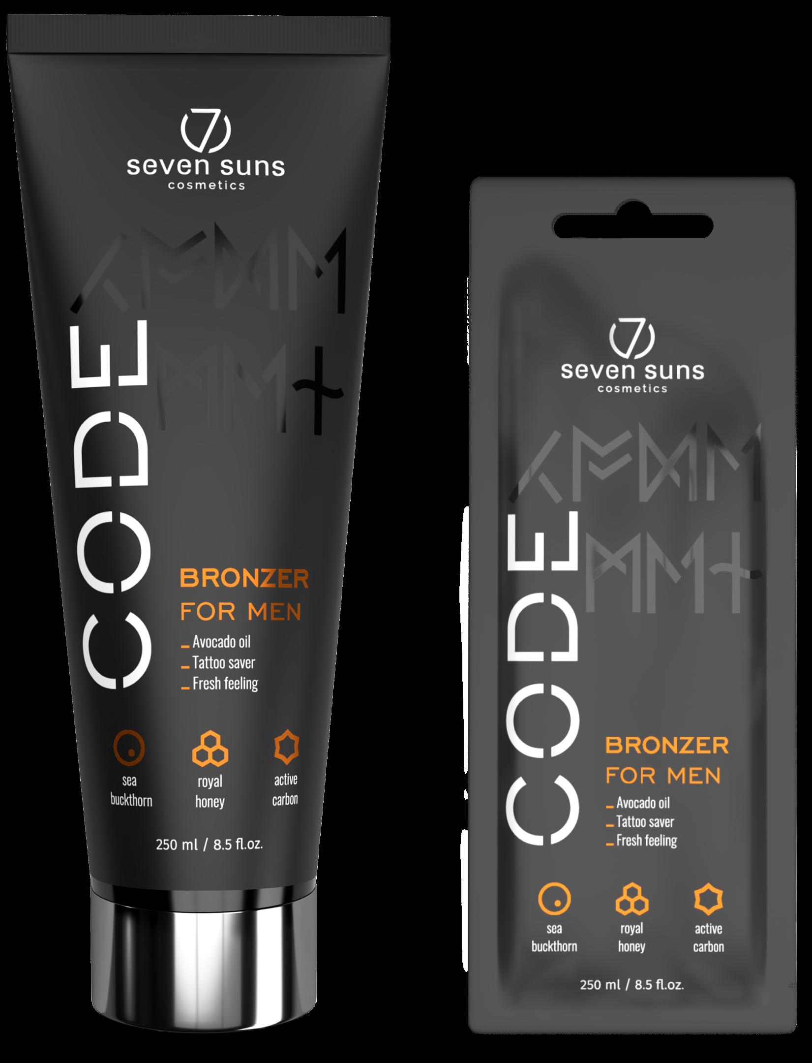 CODE Bronzer tube and sachet