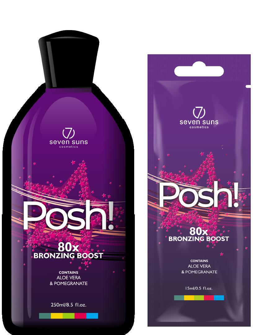 Posh! bottle and sachet bronzer