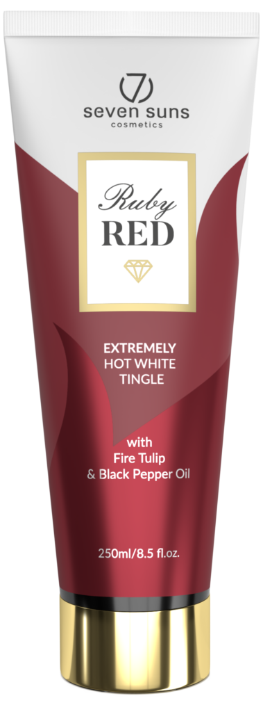 Ruby Red white tingle tube
