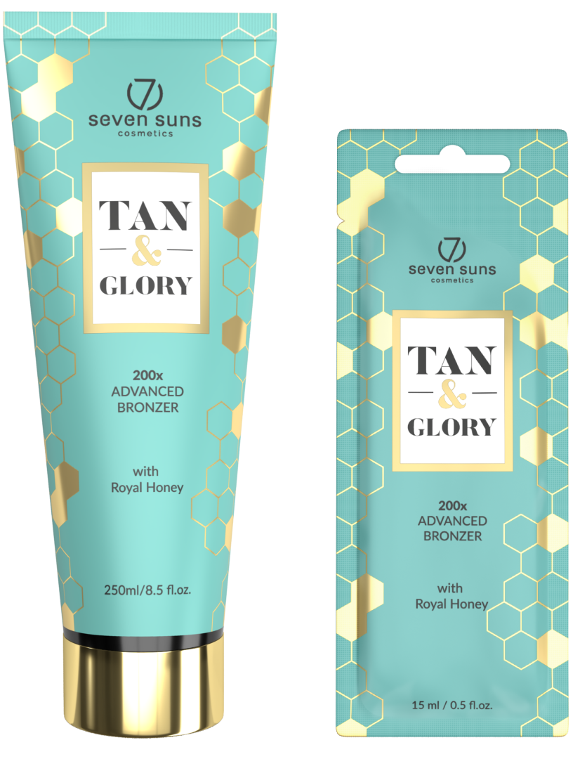 Tan & Glory bronzer tube and sachet