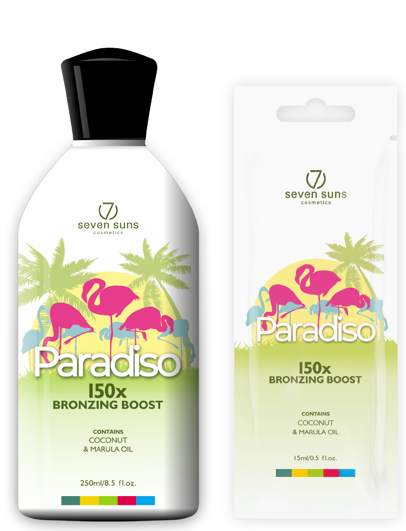Paradiso bottle and sachet