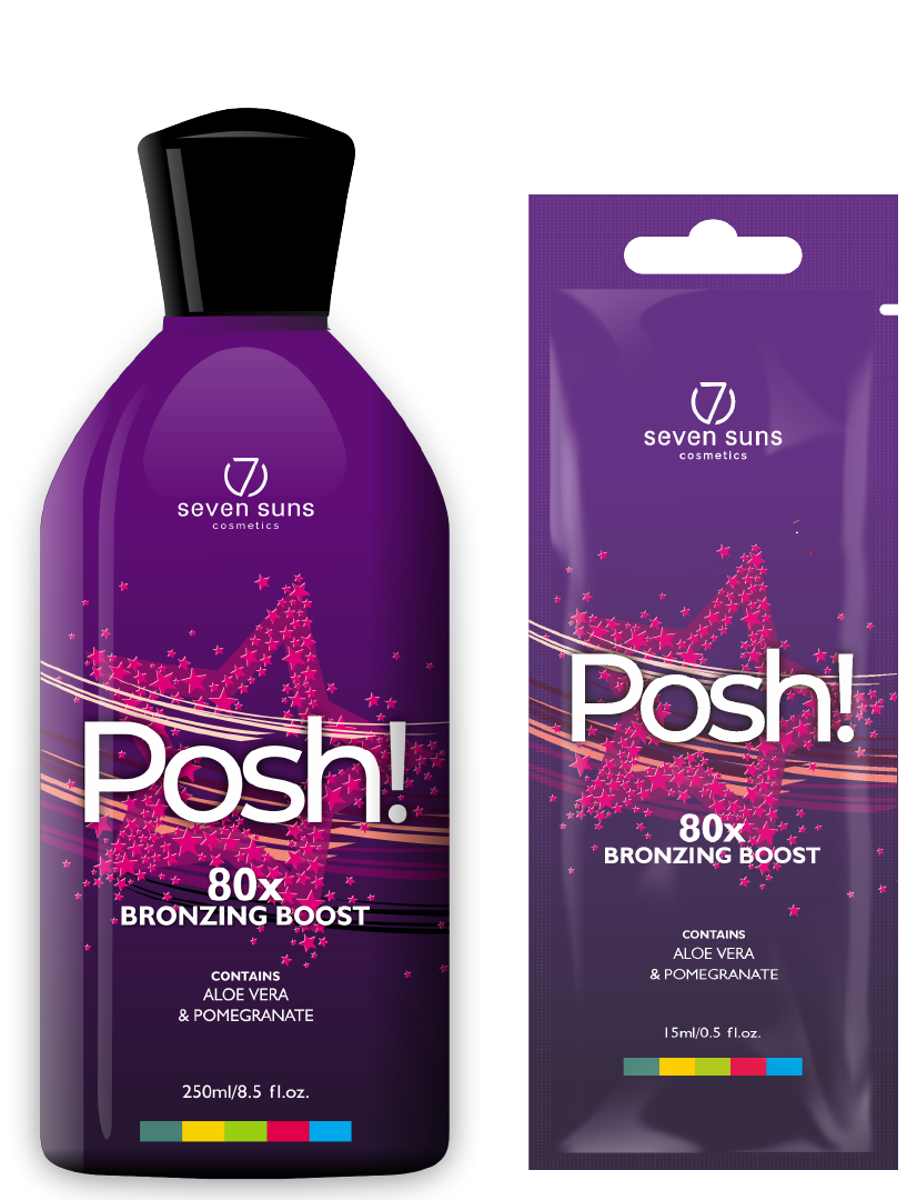 Posh! bottle and sachet bronzer